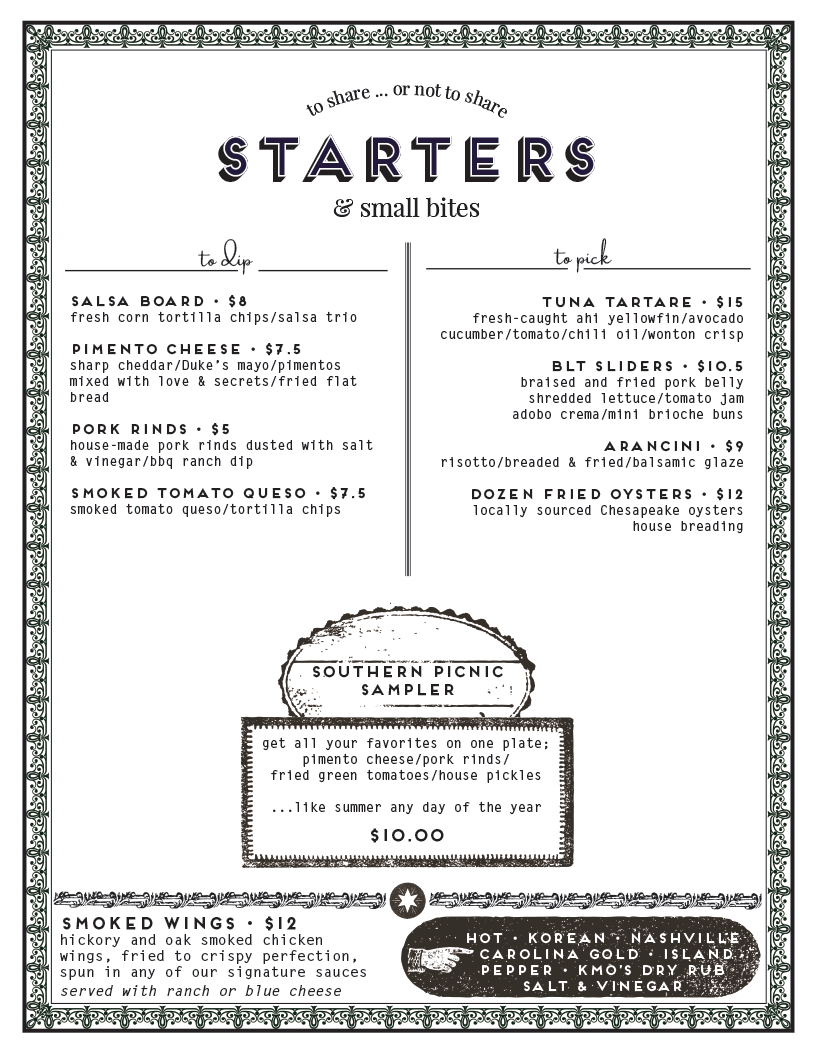 starters - to share or not to share